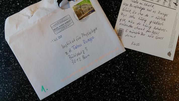 Der Adventskalender-Brief an Frau Tabea Ruegge
