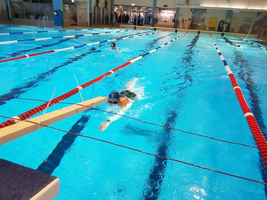 Während dem Schwimmen