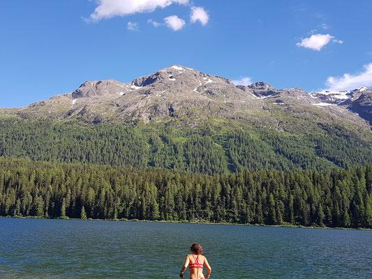 Baden im See in St. Moritz