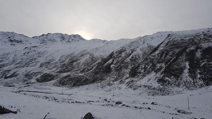 Herrliche Winterlandschaft in der Nähe von Davos