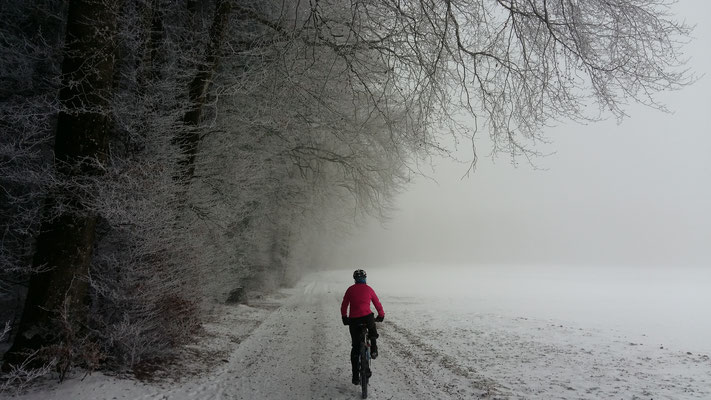 Gestartet im Nebel....