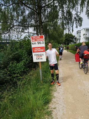 Kilometer 95 - toll ausgeschildert an den Bieler Lauftagen!