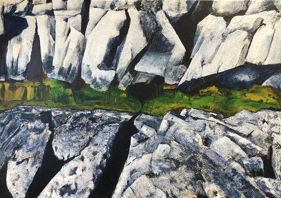 The Burren 7 100x70cm Strukturpaste und Acrylfarbe auf Leinwand 2021
