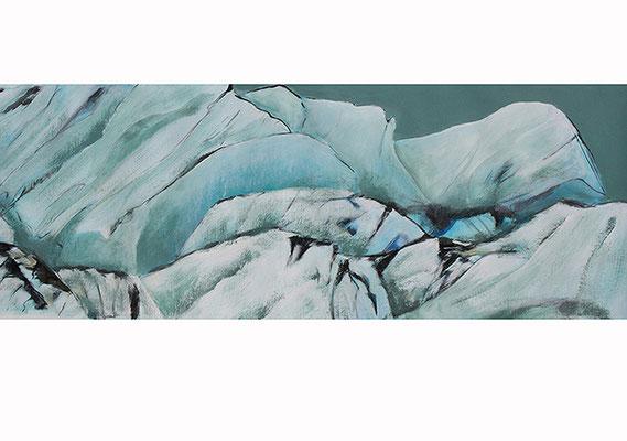 World of Ice4 100x70cm Mischtechnik auf Papier 2016