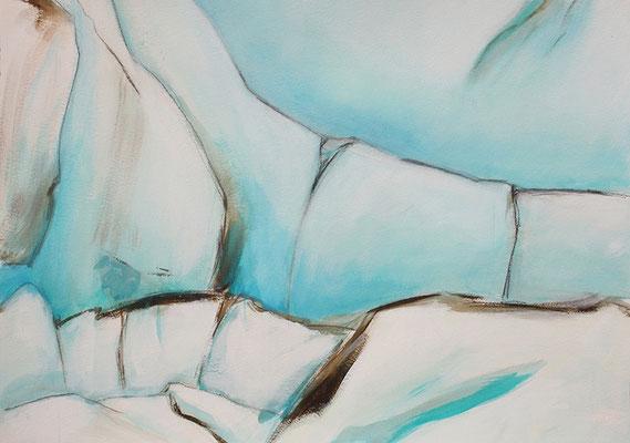 IceBlue2 60x80cm Acrylfarbe auf Papier 2015