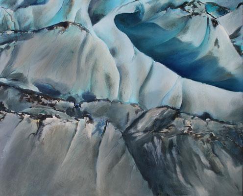 EwigesEis3  80x100cm Acrylfarbe auf Leinwand 2015
