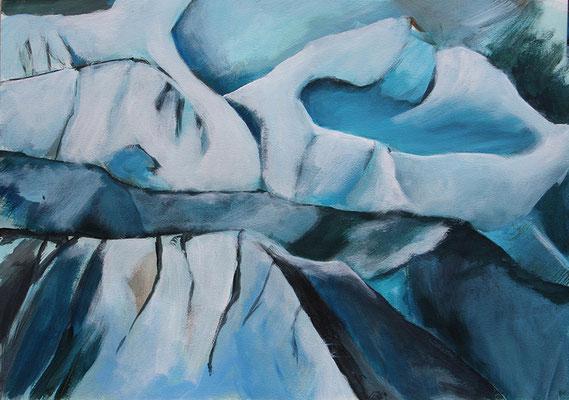 Frozen6 50x70cm Acrylfarbe auf Papier 2015