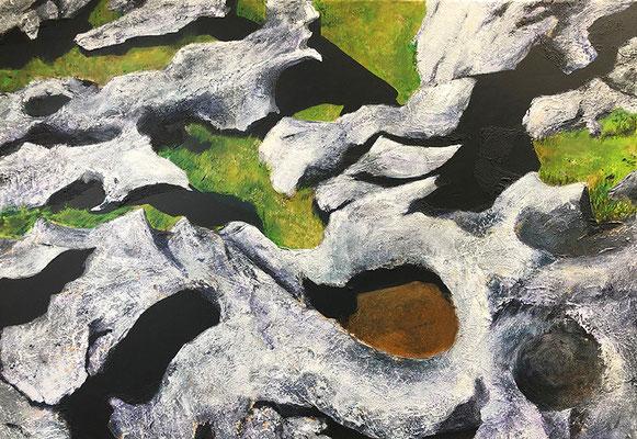 The Burren 8 100x70cm Strukturpaste und Acrylfarbe auf Leinwand 2021