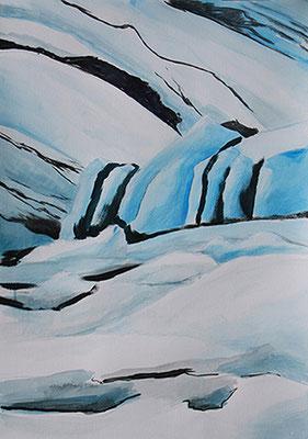 Frozen2 70x57cm Tusche und Acrylfarbe auf Spezialpapier 2014