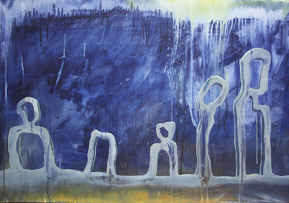 Salzsäulen 60x90xcm Ölfarbe auf Leinwand 2016
