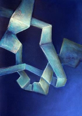 Verschlingung 65x50cm Pastellkreide auf Papier