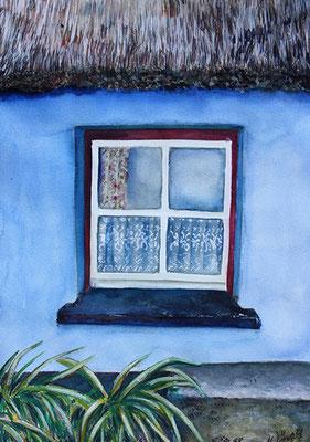 Irisches Fenster 65x38cm Aquarell 2013