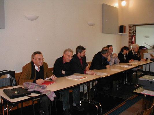 De gauche à droite : Gérard Fosse, Guy Lefranc, Jean-François Ganoote, Pierre Demolon, Jean-Paul Couché, Virginie Motte et Christiane Lesage
