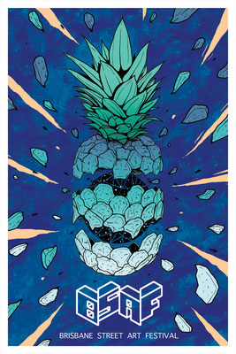 Illustration for BRISBANE STREET ART FESTIVAL 2018, Australia.