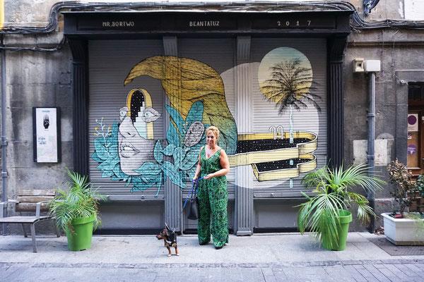 Wall painted for BEANTATUZ International Street Art Festival. Tolosa (Spain). 2017.