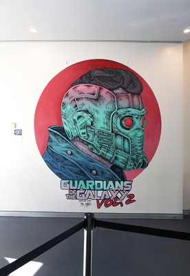 Guardians Of The Galaxy vol. 2 mural for Palace Cinemas. Brisbane, Australia. 2017