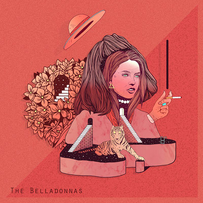 THE BELLADONNAS. EP Cover illustration for this amazing band from Brisbane, Australia.