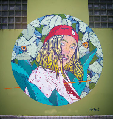 Wall painted for REXENERA FESTIVAL IN GALICIA. , SPAIN. 2019.