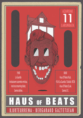 HAUS OF BEATS event poster. 2017.