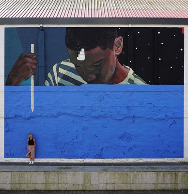 CLOSER. Wall for the 5th anniversary of TABAKALERA DONOSTIA. Curated by Arteuparte. Donostia, 2020.