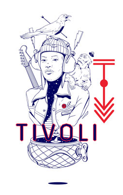 THE TIVOLI. T-shirt design for THE TIVOLI (Brisbane, Australia). 2020.