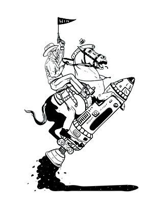 SPACE. Illustration for Mixtura Fanzine.