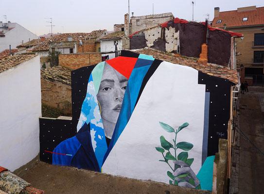 SEED. Wall for ENTORNOS FESTIVAL in Cinutrueñigo, 2020.