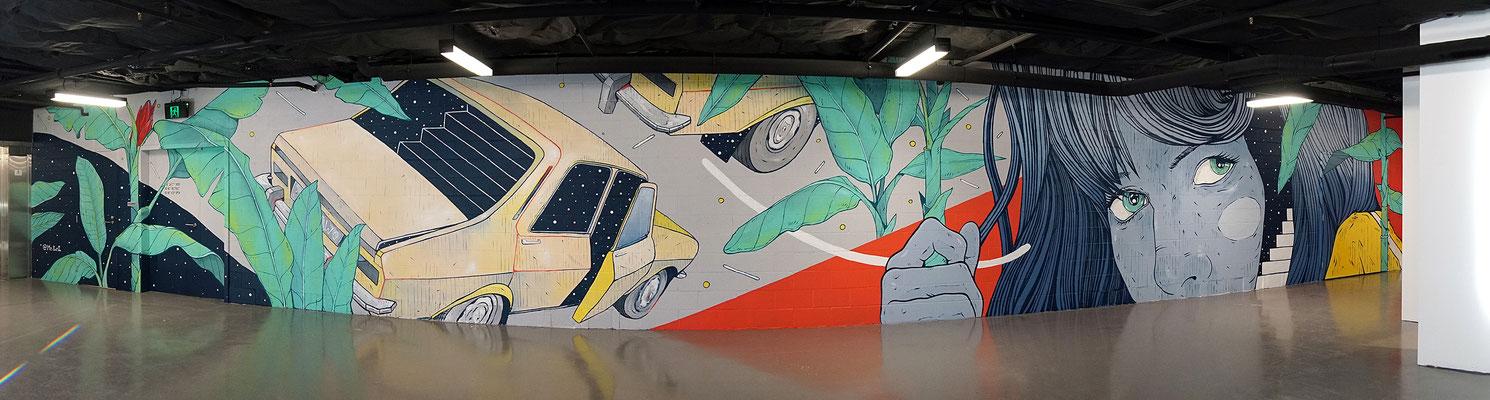 THE TRIP.  BRISBANE, AUSTRALIA.   First wall painted in WEST VILLAGE for BRISBANE STREET ART FESTIVAL 2019.