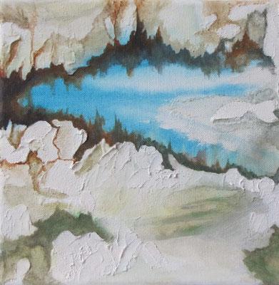Kleine Verwitterungen VIII, Acryl auf Leinwand, 20 x 20 cm