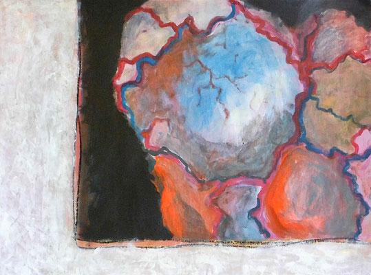Herzmond, 42 x 60 cm, Acryl und Öl auf Papier