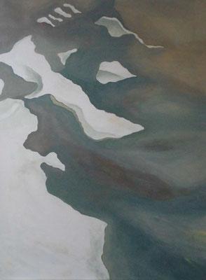 Geflutet, 2018, Acryl auf Lwd, 80 x 60 cm
