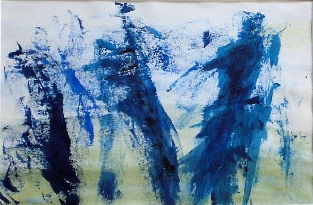 o.Titel I, 20x30 cm, Acryl auf Papier