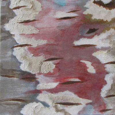 Kleine Verwitterungen I, Acryl auf Leinwand, 20 x 20 cm