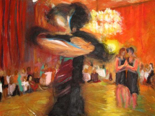 Queer Tango*, 50x60 cm, Acryl auf Leinwand