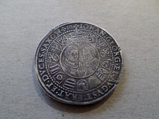1 Taler 1602 Sachsen Albertinische Linie Christian II Georg I August
