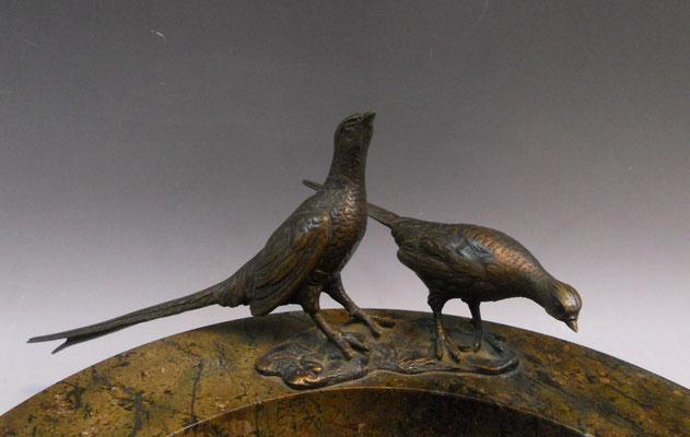 Visitenkartenschale Marmor mit Bronze Jugendstil
