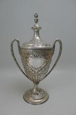 Pokal 925 Sterling Silber, Walter & John Barnard 1895 London, H 37cm