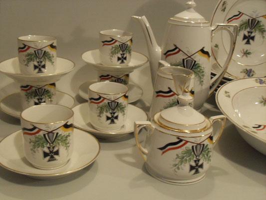 Patrotisches Porzellan um 1914-1918