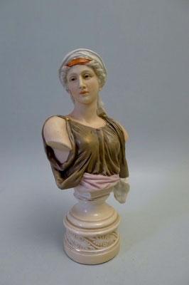 Porzellan-Büste Göttin Hygieia um 1890-1900