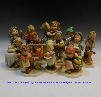 Hummelfiguren in verschiedenster Grösse, Ausführung, Herstellungsjahr finden Sie bei uns im Geschäft