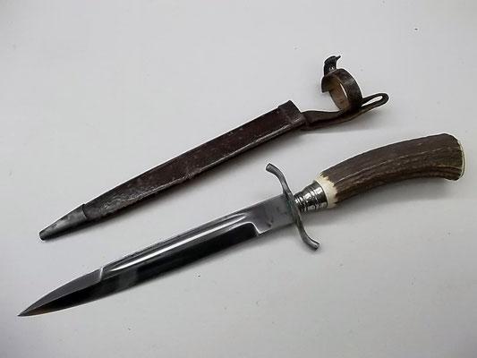 Hirschfänger Hersteller Hermann Konejung Solingen, Länge 35,5 cm