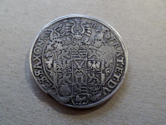 1 Taler 1654 Sachsen Albertinische Linie Christian Johann Georg August