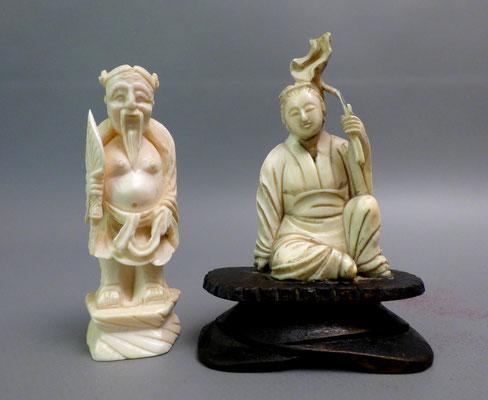 Zwei Chinesische Schnitzereien vor 1900