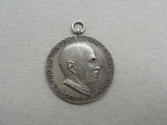 Silberne Medaille Regierungsübernahme des Herzogs Carl Eduard, verliehen 1930