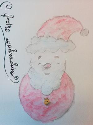 Das will ich noch üben. Soll die Weihnachtskarte für meine Neffen und Nichten werden.