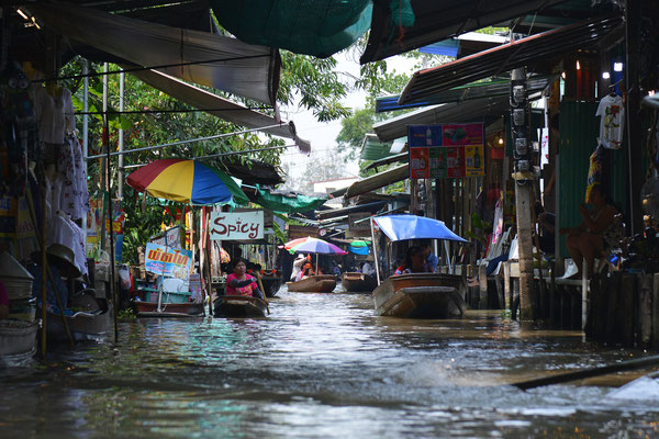 schwimmende Märkte Bangkok