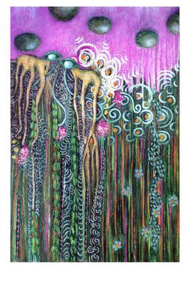 Wurzelauge - 110 x 90 cm