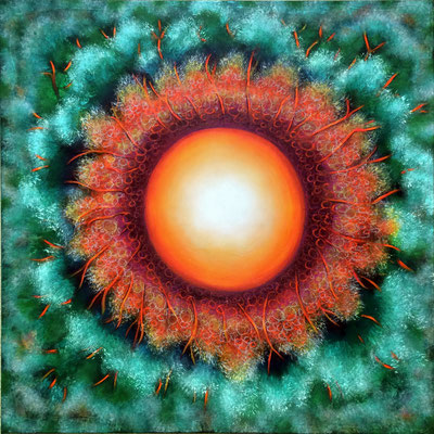 Eigene Sonne - 100 x 100 cm