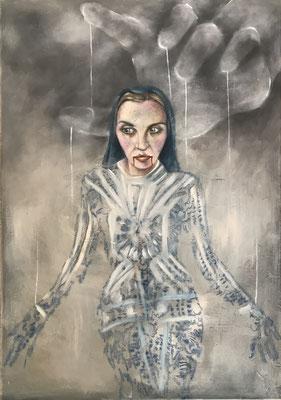 Marionette Gottes - 100 x 70 cm