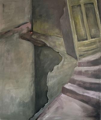Die Treppe - 130 x 110 cm